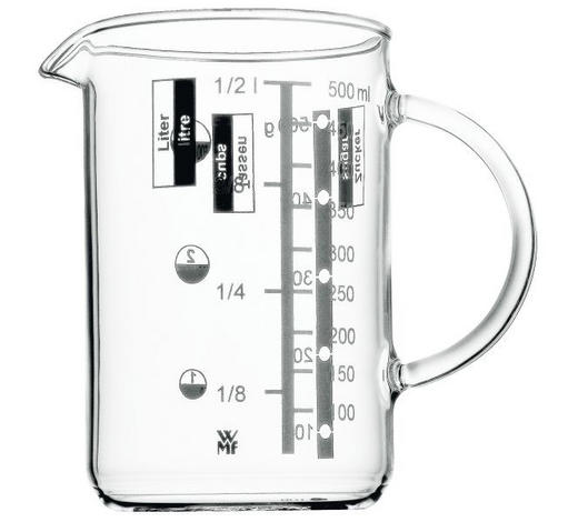 MESSBECHER - Klar, Design, Glas (0,5l) - WMF