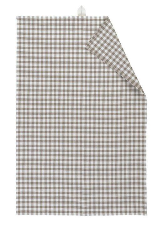 GESCHIRRTUCH - Beige/Grau, KONVENTIONELL, Textil (50/70cm) - Linum