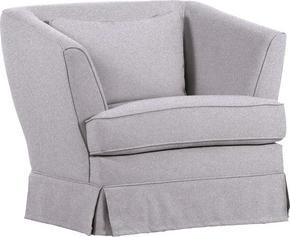 FÅTÖLJ - ljusgrå, Design, textil/plast (89/77/45/83cm) - Carryhome