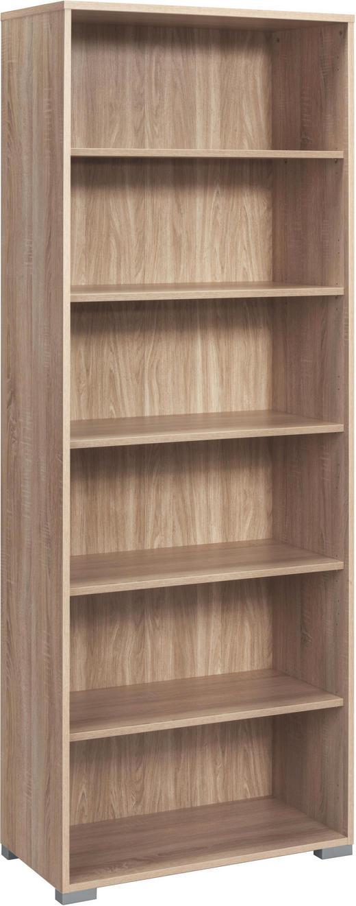 AKTENREGAL Eichefarben - Eichefarben/Silberfarben, Design, Holz/Kunststoff (80/215/40cm)