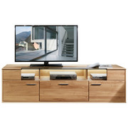 TV-ELEMENT 194/55/48 cm - Eichefarben/Alufarben, KONVENTIONELL, Holz/Holzwerkstoff (194/55/48cm) - Voleo