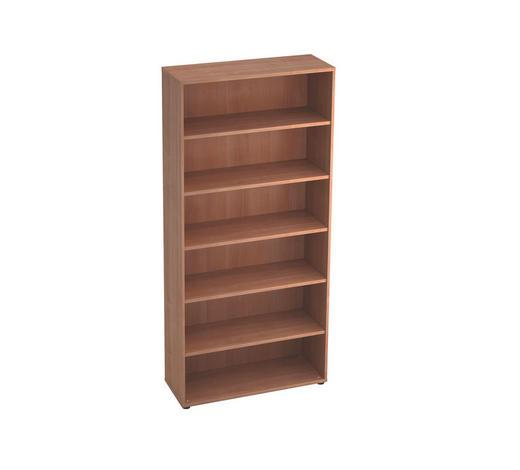 REGAL in 100/215,6/40 cm Nussbaumfarben - Nussbaumfarben/Schwarz, KONVENTIONELL, Holzwerkstoff/Kunststoff (100/215,6/40cm)