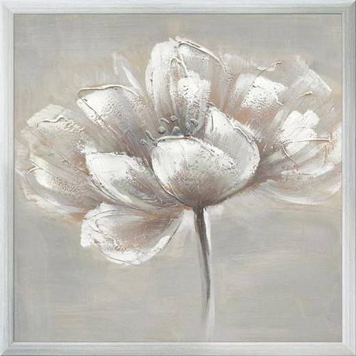 Blumen ORIGINALBILD - Multicolor, LIFESTYLE, Holz/Textil (44/44/4cm) - Eurographics