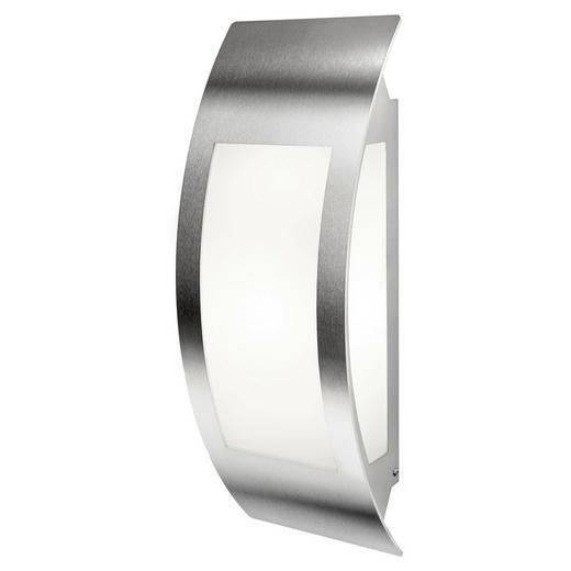 WANDLEUCHTE - Edelstahlfarben, Basics, Metall (17/11/47cm)