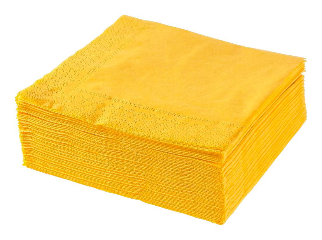 SERVIETTE Papier Gelb 40/40 cm - Gelb, Papier (40/40cm)