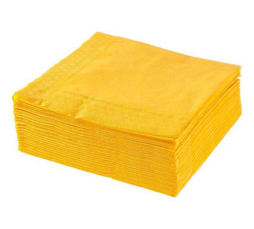 UBROUSEK, 40/40 cm, žlutá - žlutá, Basics, papír (40/40cm) - Xxxlpack