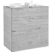 KOMMODE in furniert Kernnussbaum Nussbaumfarben - Nussbaumfarben, Design, Holz/Metall (88/92,4/51,9cm) - Ambiente by Hülsta