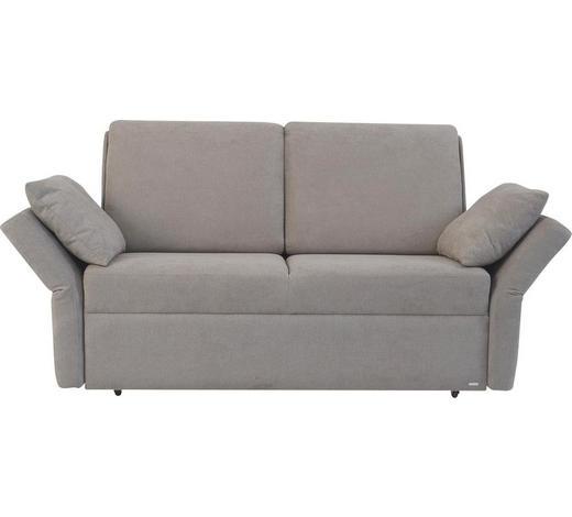 SCHLAFSOFA in Textil Grau  - Schwarz/Grau, KONVENTIONELL, Kunststoff/Textil (150/88/91cm) - Sedda