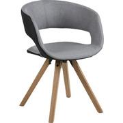 ŽIDLE, textil, světle šedá, tmavě šedá, - barvy dubu/světle šedá, Design, dřevo/textil (53,0/75/43cm) - Carryhome