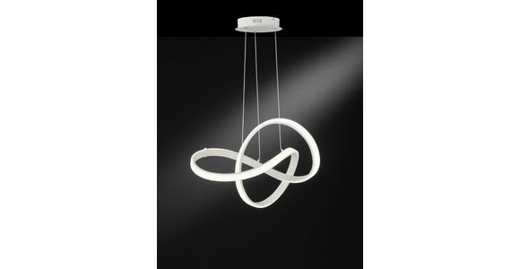 LED-HÄNGELEUCHTE 59/29 cm  - Weiß, Design, Kunststoff/Metall (59/29cm) - Ambiente