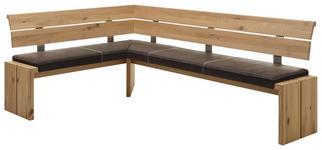 ECKBANK 160/220 cm  in Braun, Eichefarben  - Eichefarben/Braun, KONVENTIONELL, Holz/Textil (160/220cm) - Linea Natura