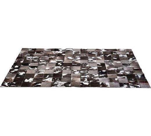 TEPPICH   Grau, Schwarz, Silberfarben, Weiß   - Silberfarben/Schwarz, Design, Leder/Textil (170/1/240cm) - Kare-Design