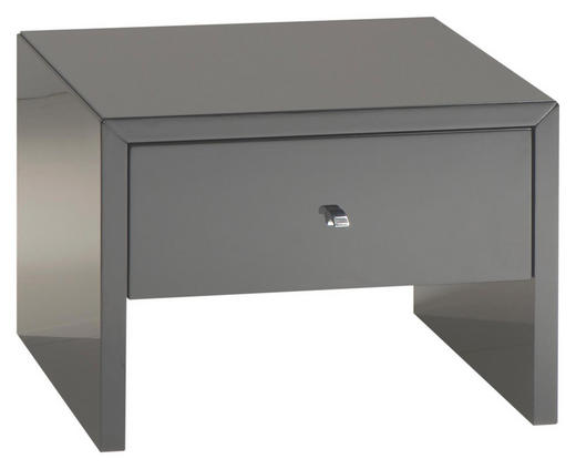 NACHTKÄSTCHEN Hochglanz Anthrazit - Chromfarben/Anthrazit, Design, Holzwerkstoff (45/33/40cm) - Xora