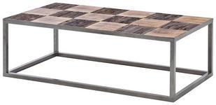 COUCHTISCH in Holz, Metall 110/60/35 cm   - Silberfarben/Braun, LIFESTYLE, Holz/Metall (110/60/35cm) - Landscape