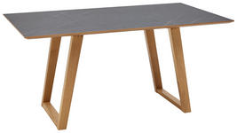 ESSTISCH in Holz, Kunststoff 240/100/76 cm   - Eichefarben/Grau, KONVENTIONELL, Holz/Kunststoff (240/100/76cm) - Dieter Knoll