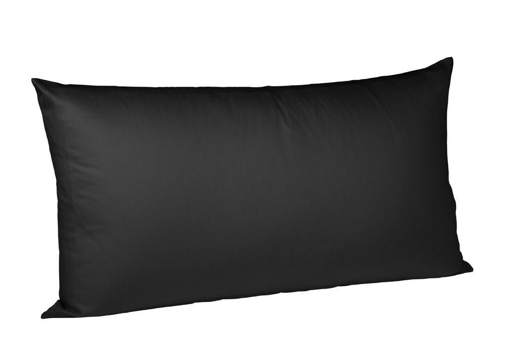 KISSENHÜLLE Schwarz 40/80 cm - Schwarz, Basics, Textil (40/80cm) - FLEURESSE