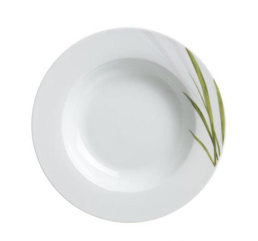 SUPPENTELLER 22// cm - Weiß/Grün, KONVENTIONELL, Keramik (22//cm) - Ritzenhoff Breker