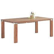 ESSTISCH Nussbaum massiv rechteckig Nussbaumfarben - Nussbaumfarben, Design, Holz (190/100/75cm) - Venjakob