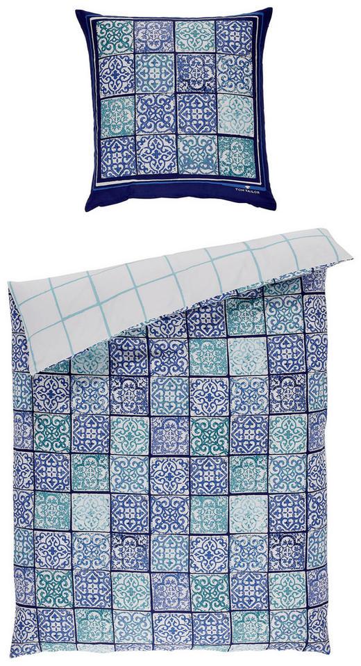 BETTWÄSCHE Satin Blau, Weiß 135/200 cm - Blau/Weiß, Basics, Textil (135/200cm) - Tom Tailor