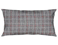 KISSENHÜLLE Anthrazit, Rot 40/80 cm  - Anthrazit/Rot, KONVENTIONELL, Textil (40/80cm) - Ambiente