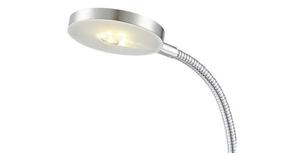 Led Schreibtischlampe Desiderio Nickel mit Flexarm - Chromfarben, MODERN, Kunststoff/Metall (17,5/11/30cm) - Luca Bessoni