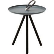 BEISTELLTISCH in Grau, Schwarz - Schwarz/Grau, Design, Holz/Metall (40/45cm) - Rolf Benz