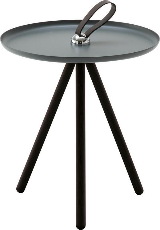 BEISTELLTISCH rund Grau, Schwarz - Schwarz/Grau, Design, Holz/Metall (40/45cm) - Rolf Benz