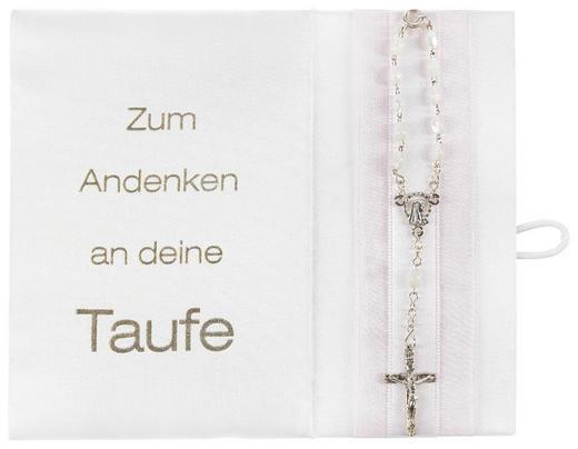 TAUFBRIEF - Rosa/Weiß, Basics, Karton/Textil (16/13cm)