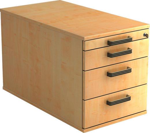 ROLLCONTAINER - Ahornfarben/Alufarben, KONVENTIONELL, Holzwerkstoff/Kunststoff (42,8/51,2/80cm)