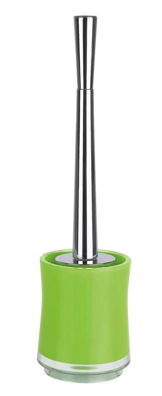 WC-BÜRSTENGARNITUR - Chromfarben/Hellgrün, Basics, Kunststoff (10/10/38cm) - Spirella