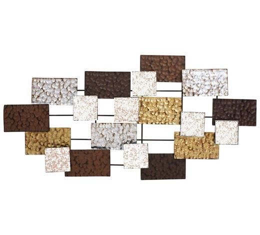 STENSKA DEKORACIJA ambia - črna/zlata, Design, kovina (110/4,5/55cm) - Ambia Home