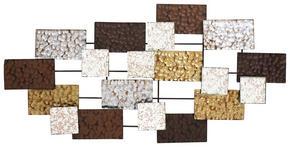 VÄGGDEKORATION - vit/brun, Design, metall (110/4,5/55cm) - Ambia Home