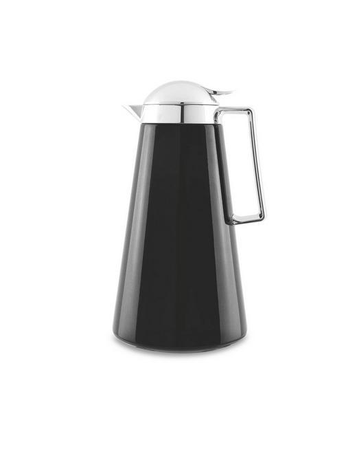 ISOLIERKANNE 1 L - Schwarz, Basics, Glas/Kunststoff (1l) - Homeware