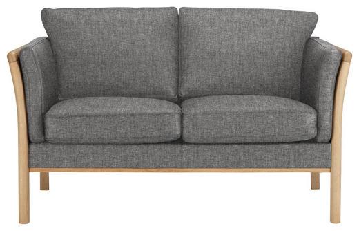 ZWEISITZER-SOFA in Holz, Textil Grau, Eichefarben - Eichefarben/Grau, Design, Holz/Textil (142/80/82cm)