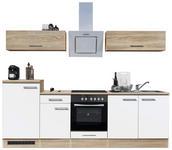 KÜCHENBLOCK - Weiß/Sonoma Eiche, Design, Holzwerkstoff (270/195/60cm) - Xora
