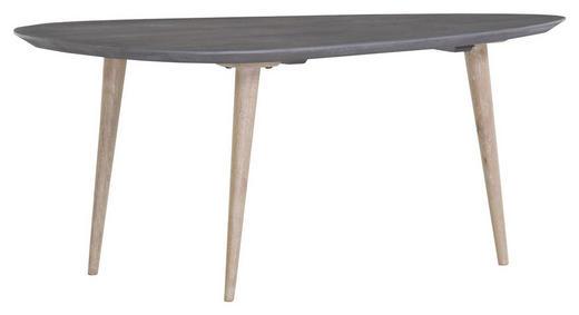 COUCHTISCH Mangoholz massiv Freiform Grau, Naturfarben - Naturfarben/Grau, Design, Holz (100/65/45cm) - Carryhome