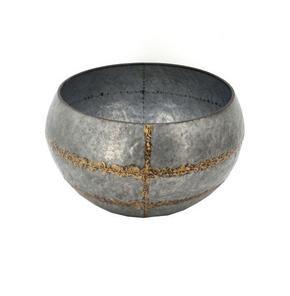 PLANTERINGSKRUKA - grå/guldfärgad, Basics, metall (38,5/22,5cm) - Ambia Home
