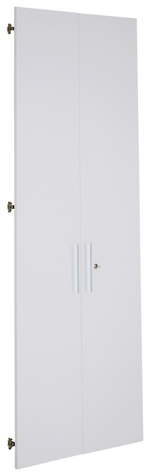 TÜR Weiß - Silberfarben/Weiß, Design, Metall (75,6/207cm) - VOLEO
