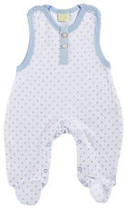 STRAMPLER - Weiß/Hellblau, Basics, Textil (50) - Patinio