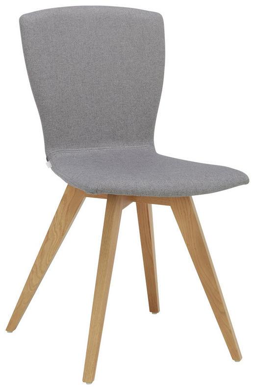 STUHL in Holz, Textil Eichefarben, Grau - Eichefarben/Grau, Design, Holz/Textil (47 88 53cm) - Lomoco