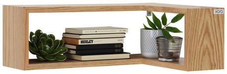 WANDREGAL Eiche furniert Eichefarben  - Eichefarben, Design, Holz (60/40/20/15cm) - Xora