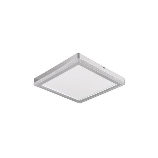 LED-PANEEL - Silberfarben/Weiß, Basics, Kunststoff (40/40/4,5cm) - Novel