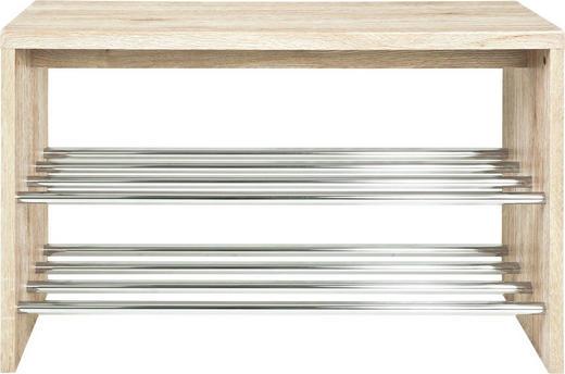 SCHUHBANK Eichefarben - Eichefarben, Design, Holzwerkstoff/Metall (81/55/30cm) - Carryhome