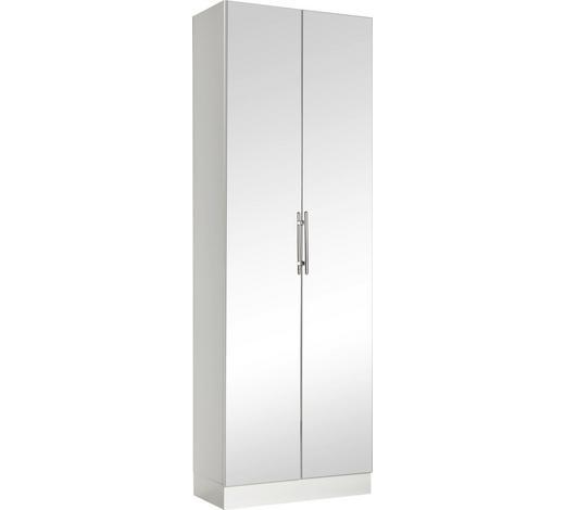 VISOKI ELEMENT  bijela  - bijela/boje kroma, Basics, staklo/drvni materijal (65/195,5/33cm) - Xora