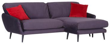 WOHNLANDSCHAFT in Textil Anthrazit, Rot  - Anthrazit/Rot, Trend, Holz/Textil (229/157cm) - Carryhome