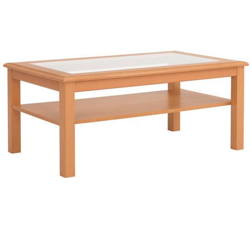 COUCHTISCH in Holz, Glas, Holzwerkstoff 120/70/51 cm - Buchefarben, KONVENTIONELL, Glas/Holz (120/70/51cm)