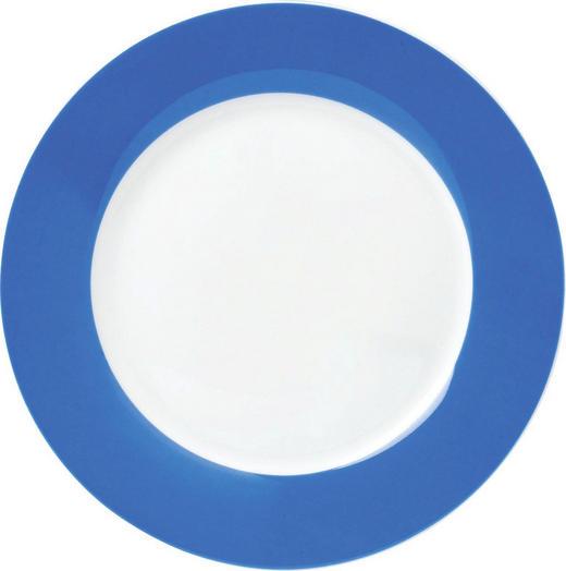 Porzellan  DESSERTTELLER  rund - Blau/Weiß, Basics, Keramik (20cm)