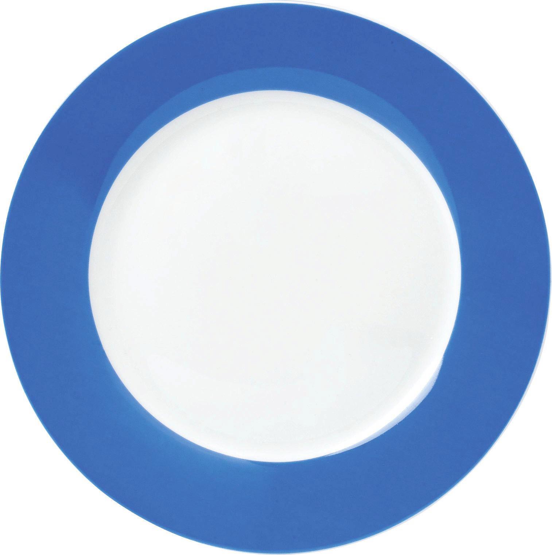 Porzellan  DESSERTTELLER  rund - Blau/Weiß, Basics (20cm)