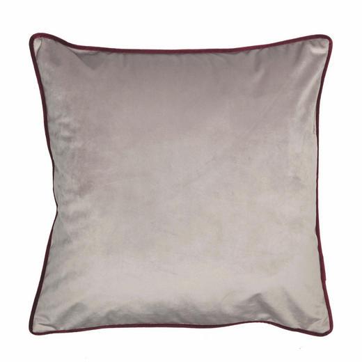 KISSENHÜLLE Beere, Schlammfarben 45/45 cm - Schlammfarben/Beere, KONVENTIONELL, Textil (45/45cm) - Ambiente
