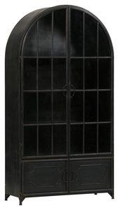 VITRINSKÅP - svart, Modern, metall (91,5/172,5/37cm) - Ambia Home